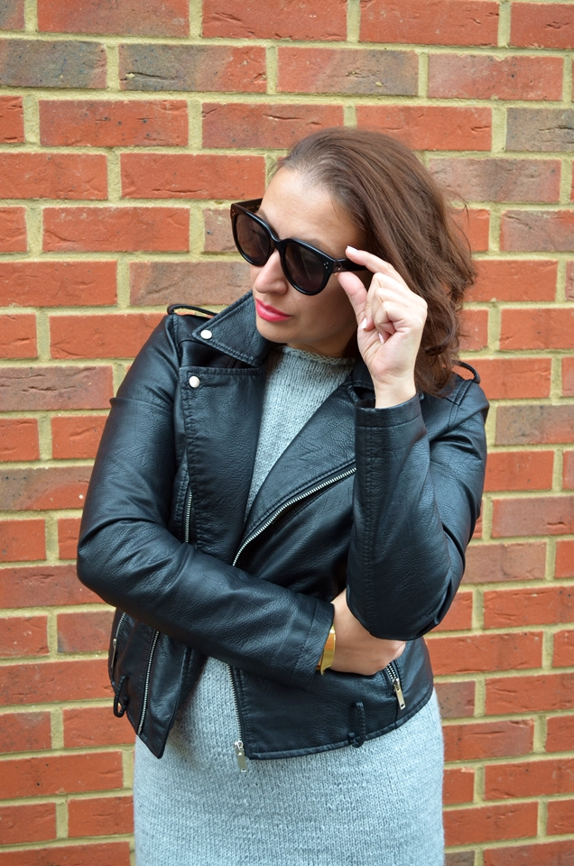 Adriana Style Blog, blog modowy Puławy, okulary celine, sukienka lawool, sneakersy michael kors, ramoneska, minimalizm, moda, fashion, Celine Audrey Sunglasses, MK Sneakers