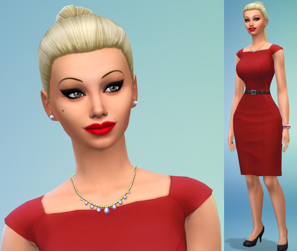 "Sims 4 Caliente Celebrity Sim ""pamela Anderson"" By"