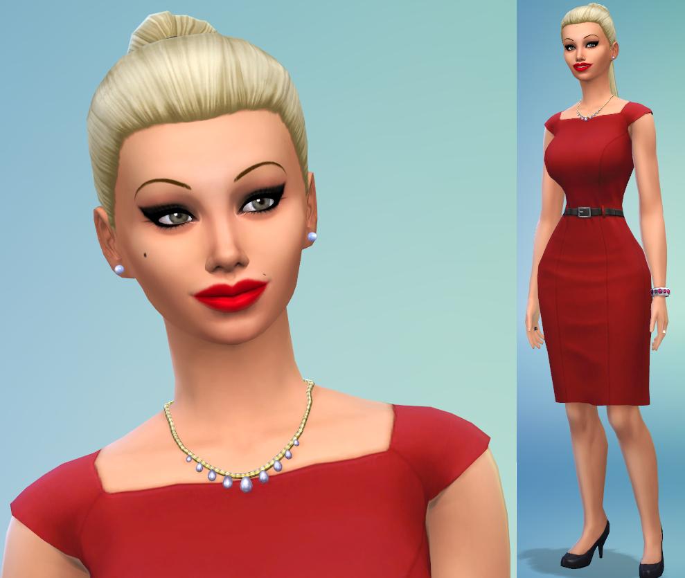 "Sims 4 Caliente Celebrity Sim ""pamela Anderson"" By"