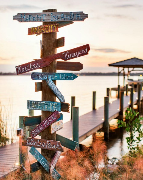 Directional Beach Sign