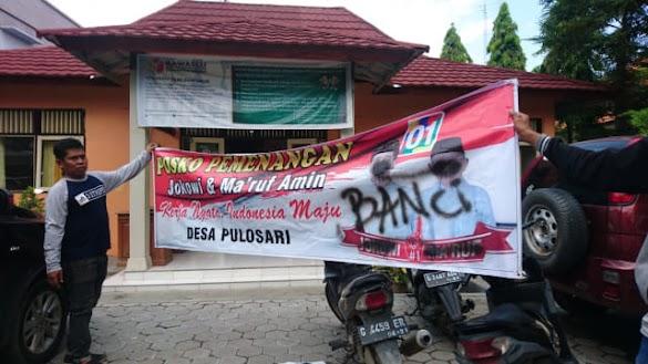 Spanduk Jokowi di Brebes Ditulisi 'Banci' dan 'PKI'