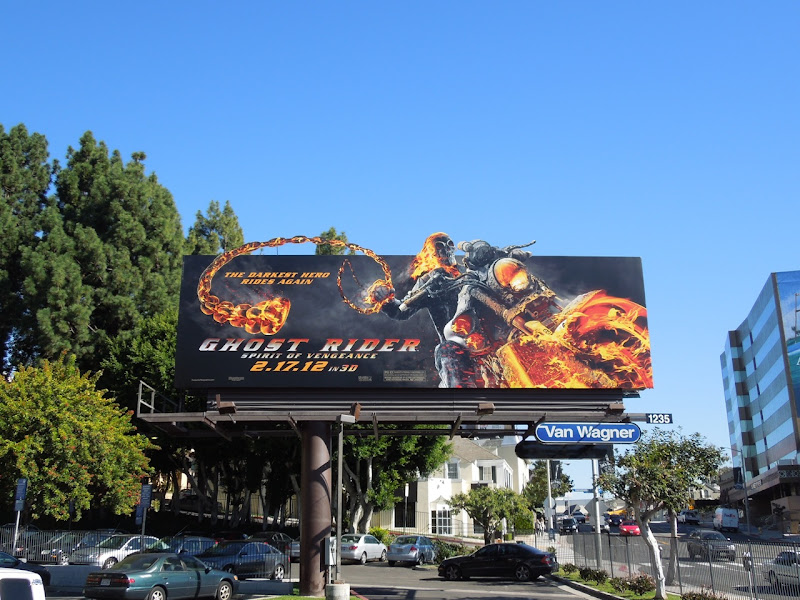 Ghost Rider 2 Spirit of Vengeance billboard