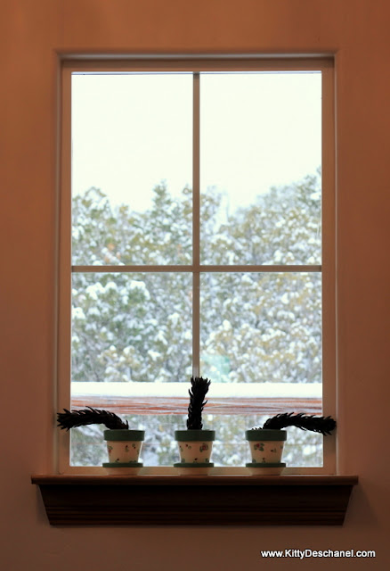 window with snow outside