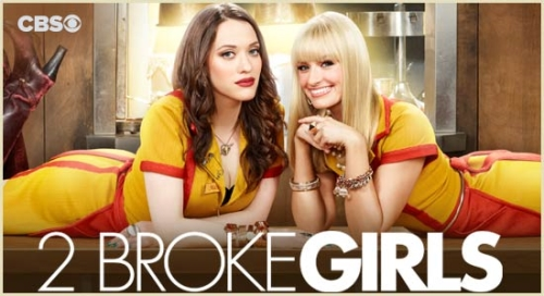 two broke girls poster