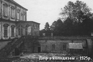 Замковий двір з колодязем 1925р.