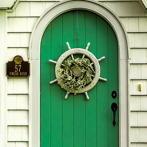 Front Door Ship Wheel Wreath
