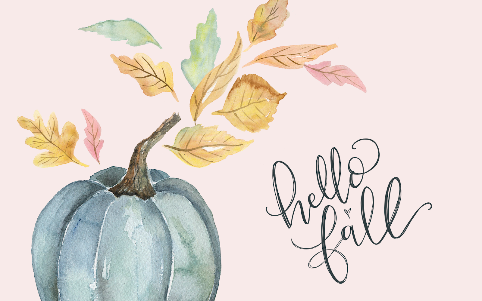 Pretty Walls Hello Fall Desktop Wall