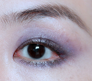 353934653c8 Pixi Black Tulip to rim waterlines and smudged into lashline, two coats of  Armani ETK Waterproof mascara [....man, this does not build well.