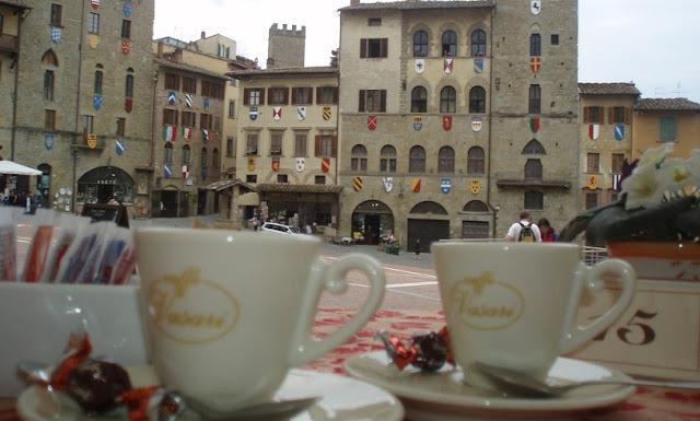 Primeiro dia de viagem em Arezzo