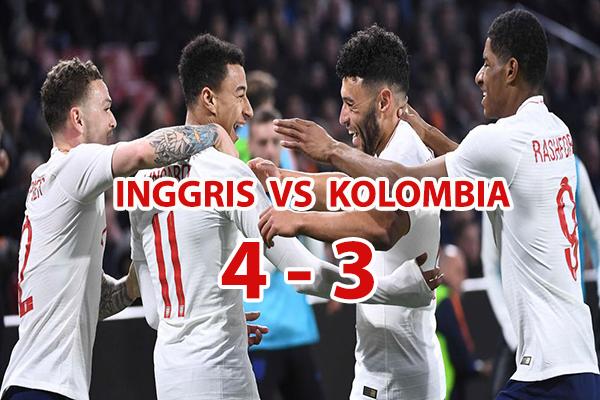 Inggris Tersenyum Manis, Kolombia Berduka kalah 4-3 lewat adu pinalti