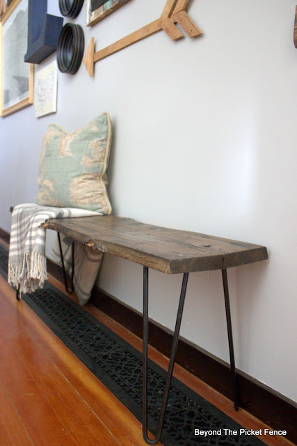 rustic industrial bench or coffee table