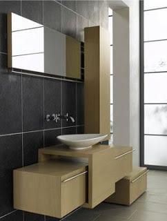 Moderno mobiliario de ba o piudue con estilo minimalista - Mobiliario minimalista ...