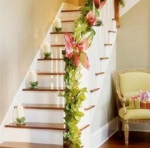 Decorar una escalera para el d a de la boda cr nicas de una boda parte v mabel 39 s kitchen - Decorar album de fotos por dentro ...