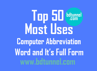 Top 50 Most Uses Computer Abbreviation Words And Its Full Form Important