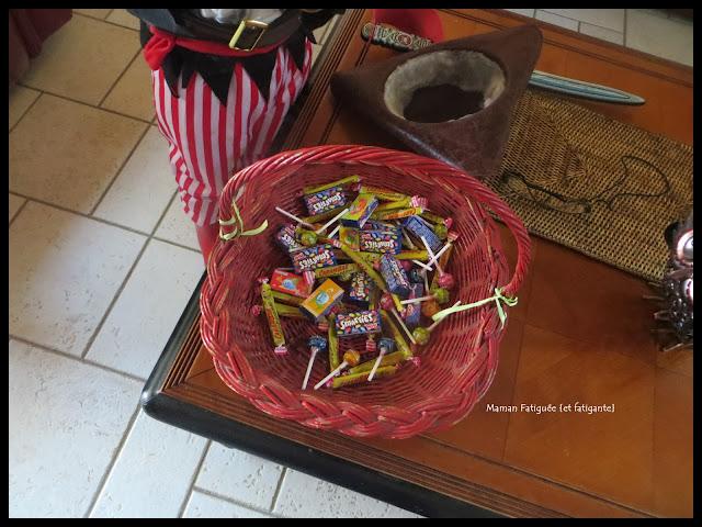 recolte bonbons halloween