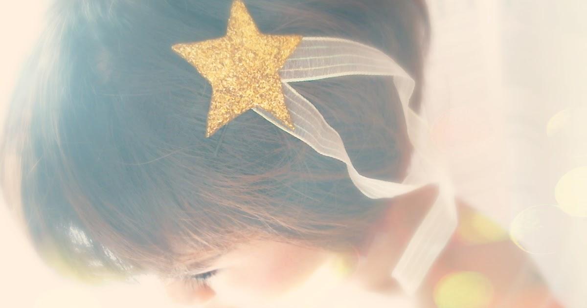DIY Hair Accessories : Whimsical Felt Glitter Star HairPin ...
