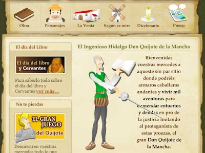 http://www.educa.jcyl.es/educacyl/cm/gallery/Recursos%20Infinity/tematicas/webquijote/comic.html