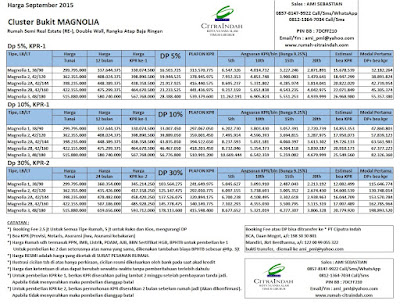 harga-magnolia-citra-indah-september-2015