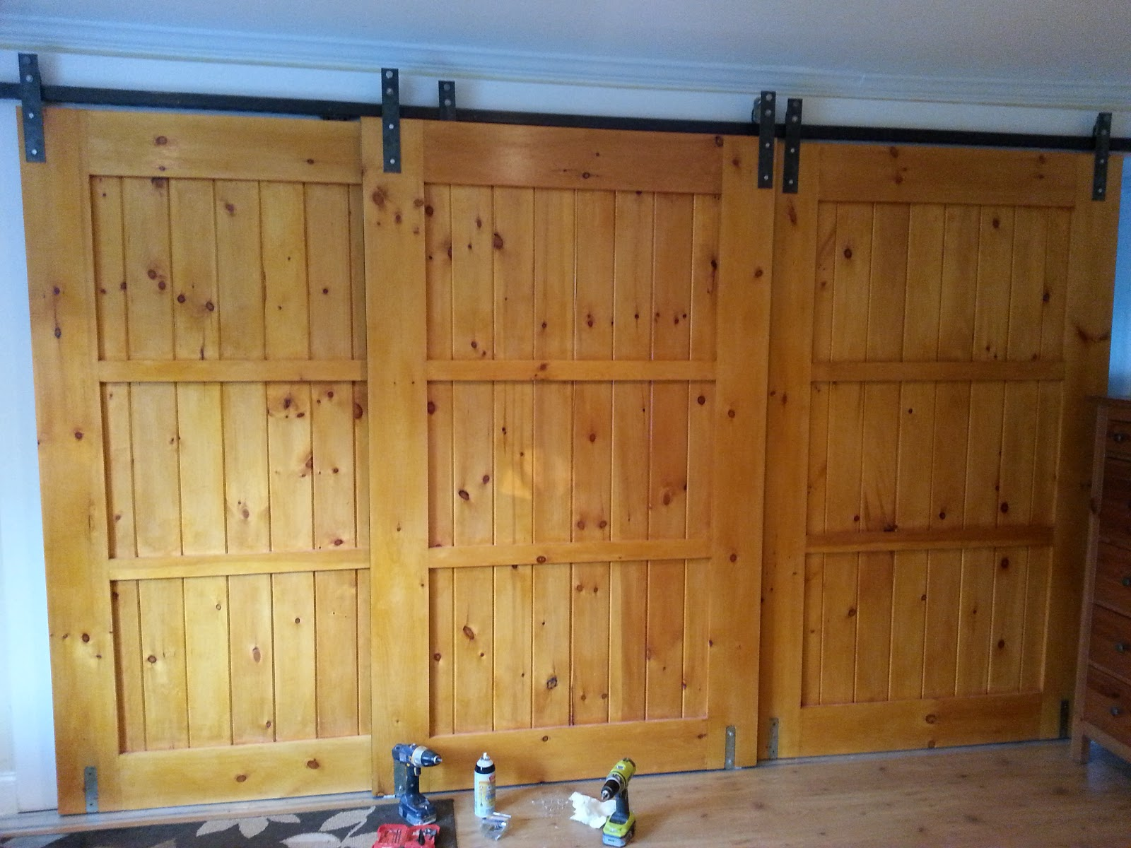 Large Dining Room Set Mfsamuel Finally Posting My Barn Doors With A Twist At
