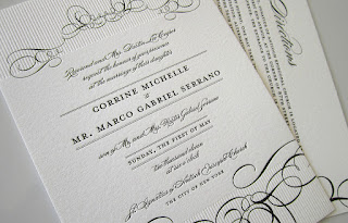 Epic and Modern Letterpress Wedding Invitations