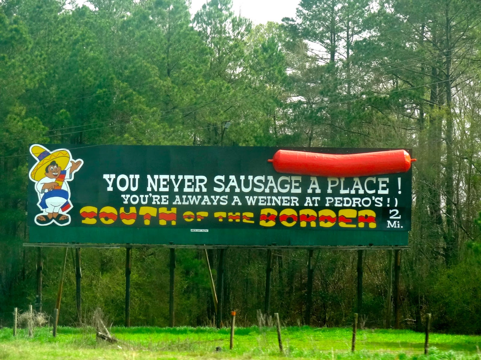 South of the Border Billboard