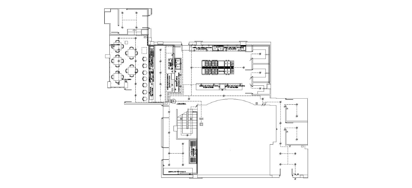 Andres brugarolas aleman arquitecto restaurante el cherro for Distribucion de una cocina para restaurante
