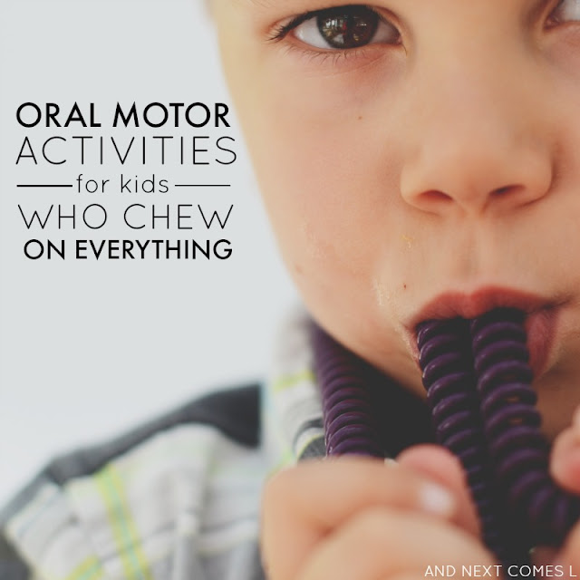 Oral motor sensory activities for kids from And Next Comes L