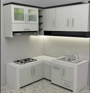 model lemari dapur minimalis modern bernuansa putih