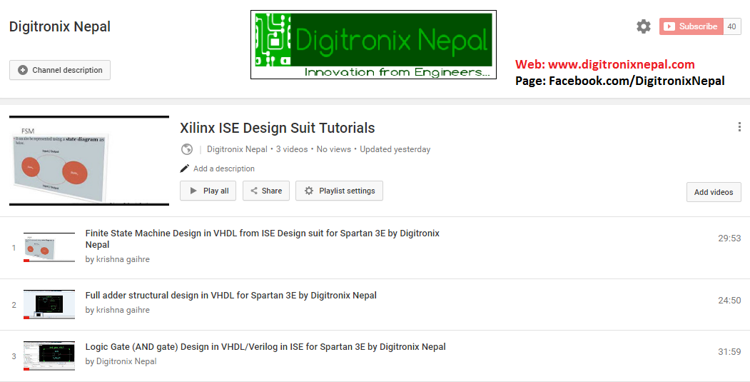 Digitronix nepal for Spartan 6 architecture