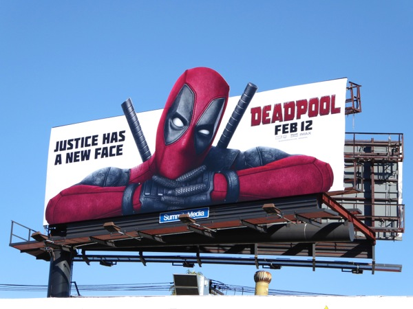 Deadpool Justice has a new face billboard