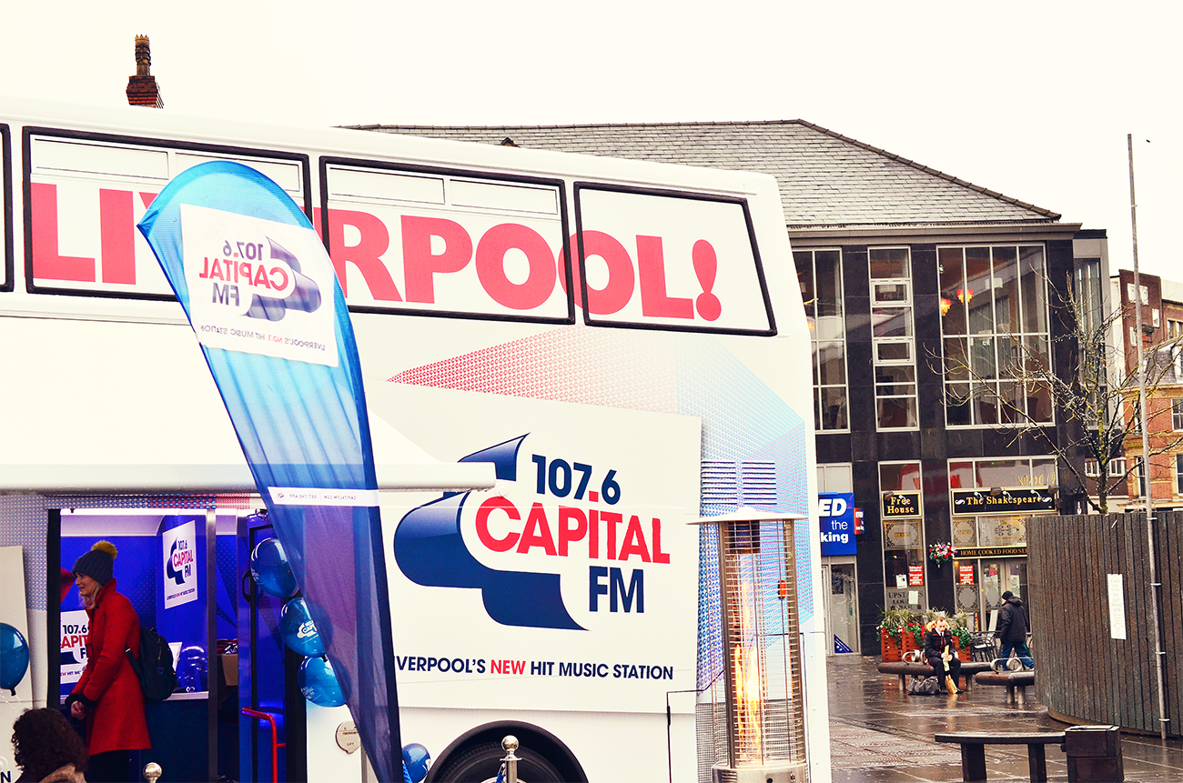 Glam Bus Liverpool Capital FM