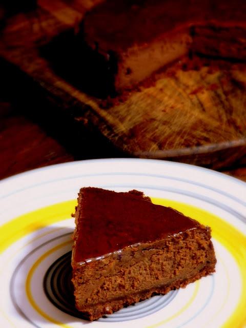 Cheesecake al cioccolato e amaretto