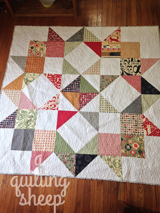 Moda Love Quilt Designed by Amy Barta of A Quilting Sheep, The Free Pattern by Moda fabrics