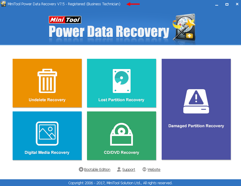 MiniTool Power Data Recovery 7.5 Crack pour toutes les éditions