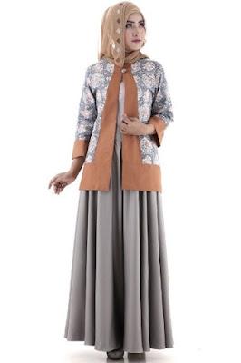Baju batik kombinasi untuk kerja yang elegan