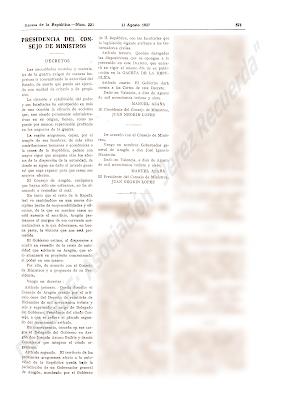 Ambos decretos fueron publicado el 11 de agosto de 1937, en el número 223 de La Gaceta de la República (Diario Oficial).