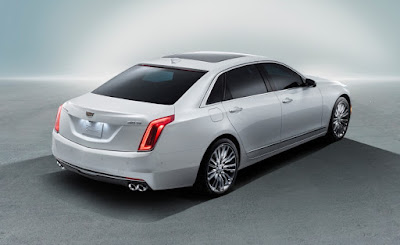All New 2017 Cadillac CT6 Sedan rear look