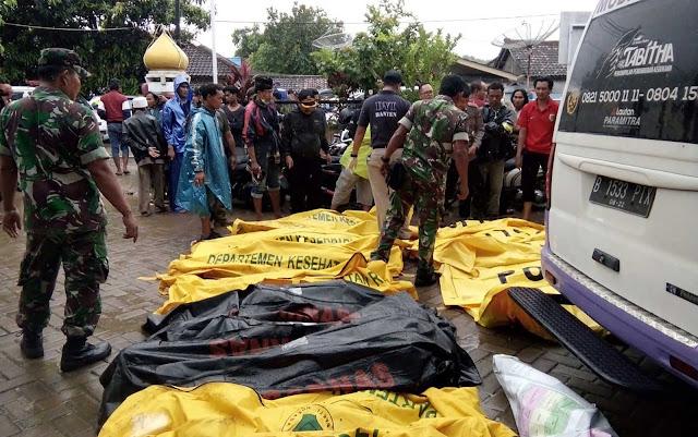 Vários corpos das vítimas