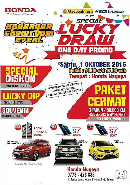 Special Lucky Draw One Day Promo