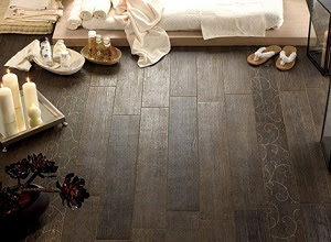 Ceramic Tile Floor With Wood Effect