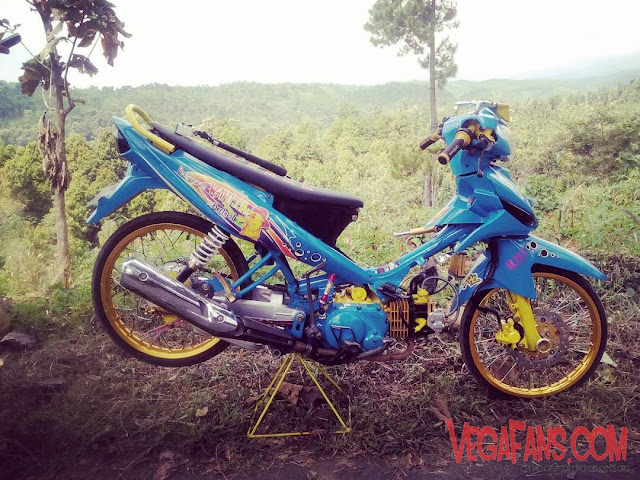 Vega ZR Modif Simple Ceper biru