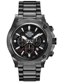 Harley Davidson Men's Stainless Steel Chronograph Bracelet Watch 78B127