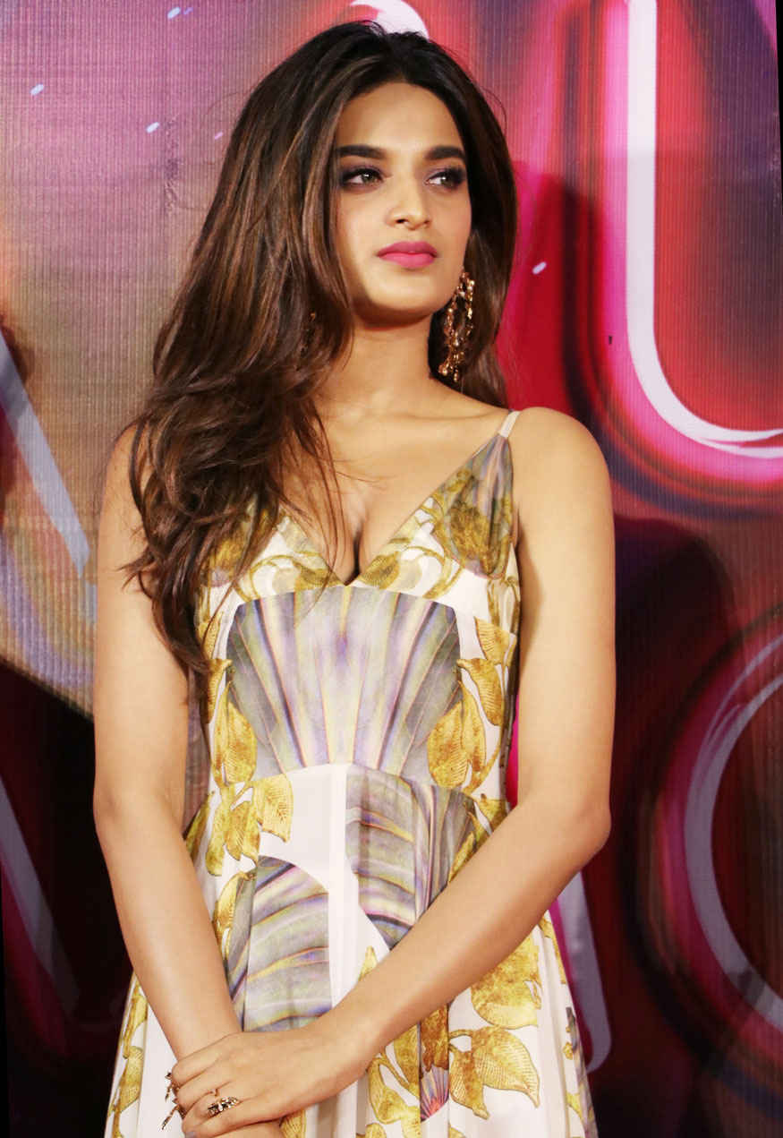 Nidhhi Agerwal at PVR For Trailer Launch of Munna Michael