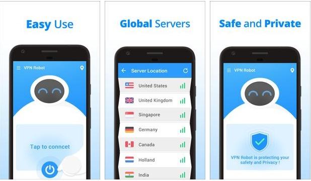 Download VPN Robot Free Unlimited VPN Proxy &WiFi Security