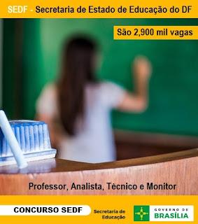 Apostila concurso SEDF do DF para Professor de Educação Básica
