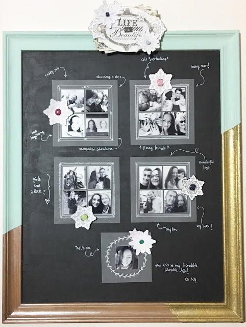 Magnetic Board Misc Me by Angela Tombari using BoBunny Winter Wishes Collection