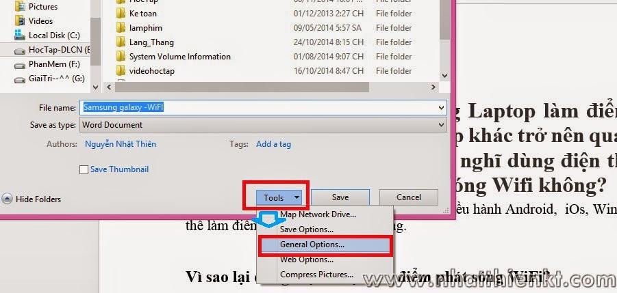 Hướng dẫn đặt mật khẩu bảo vệ Word 2013, Excel 2013