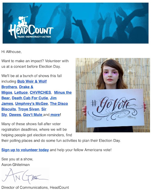 A new political costume? A sad-faced girl with 2 bruised eyes, imploring us to vote to save her from further violence?