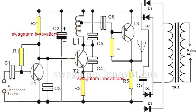 simple wireless loudspeaker circuit