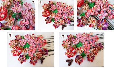 kanzashi, flores kanzashi, kanzashiland
